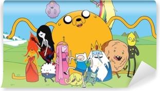 Carta da Parati in Vinile Adventure Time Finn & Jake