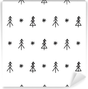 Carta da Parati in Vinile Albero di Natale senza soluzione di continuità modello