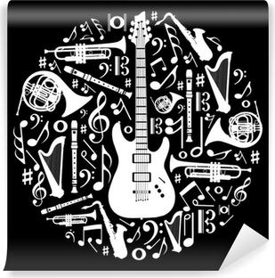 Quadro Su Tela Musica In Bianco E Nero Senza Soluzione Di Modello