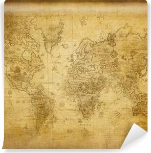 Carta da Parati in Vinile Antica mappa del mondo
