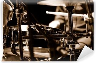Carta da Parati Autoadesiva Drummer sul palco