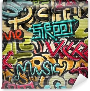 Carta da Parati Autoadesiva Graffiti Sfondo
