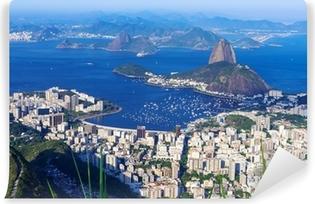Carta da Parati Autoadesiva La montagna Pan di Zucchero e il Botafogo a Rio de Janeiro