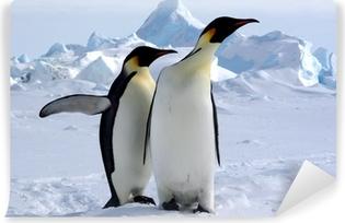 Carta da Parati Autoadesiva Mais où est le Pôle Sud? (Manchots Empereurs / Antarctique)