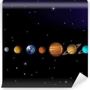 Carta da Parati Autoadesiva Sistema solare