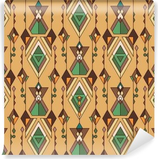 Carta da Parati Autoadesiva Tribal vintage pattern etnico senza saldatura. Azteco, messicano, navajo, motivo africano.