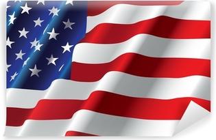 Carta da Parati Autoadesiva Vettore di bandiera americana