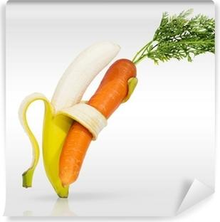 Carta da Parati in Vinile Ballando per amore della tua frutta e verdura