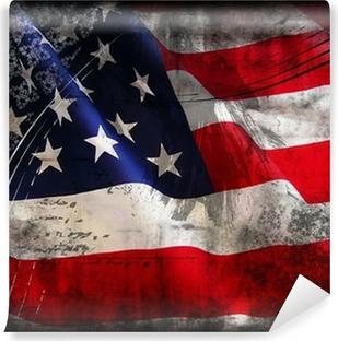 Carta da Parati in Vinile Bandiera degli Stati Uniti (Stati Uniti d'America)