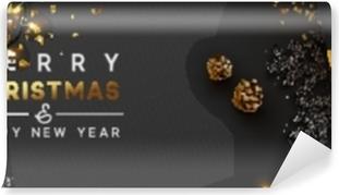 Biglietti Di Natale Modelli.Carta Da Parati Felice Anno Nuovo Banner Ghirlanda Di Luci