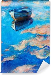 Carta da Parati in Vinile Barca in mare