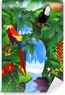 Carta da Parati in Vinile Beauiful sfondo tropicale