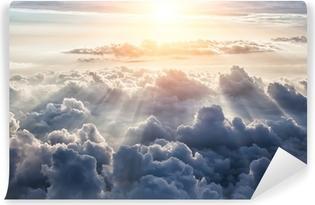 Carta da Parati in Vinile Beautiful blue sky background