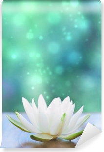 Carta da Parati in Vinile Bianco, acqua, lilly fiore