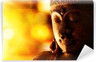 Carta da Parati in Vinile Bronze buddha statue