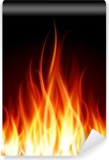 Carta da Parati in Vinile Brucia fiamma di fuoco vettore sfondo