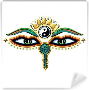 Carta da Parati in Vinile Buddha Augen Yin Yang