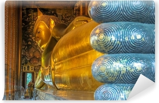Carta da Parati in Vinile Buddha sdraiato, Wat Pho, Bangkok, Thailandia