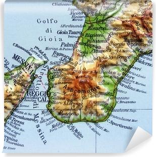 Reggio Calabria Cartina Geografica.Poster Carta Geografica Della Calabria Pixers Viviamo Per Il Cambiamento