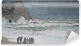 Carta da Parati in Vinile Claude Monet - Mare agitato a Etretat
