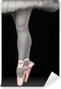 Carta da Parati in Vinile Danzatore di balletto in piedi sulla punta dei piedi mentre balla converion artistico