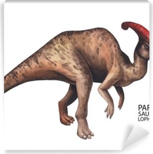 Carta da Parati in Vinile Dinosauro acquerello realistico
