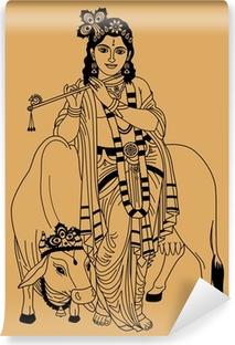 Carta da Parati in Vinile Dio indiano.