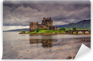 Carta da Parati in Vinile Eilean Donan Castle, Highlands, Scozia