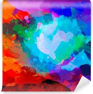 Carta da Parati in Vinile Estratto acquerello tavolozza di colori della miscela