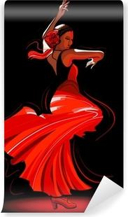 Carta da Parati in Vinile Flamenco dancer