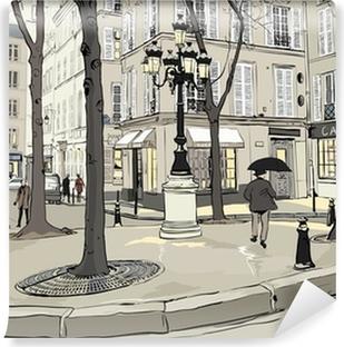 Carta da Parati in Vinile Furstemberg piazza a Parigi