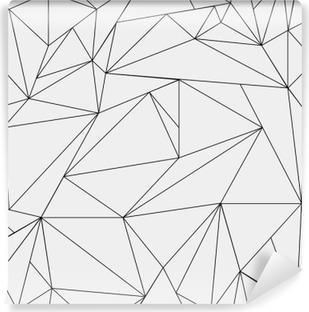 Carta da Parati in Vinile Geometrica semplice in bianco e nero modello minimalista, triangoli o vetrata. Può essere utilizzato come sfondo, sfondo o texture.