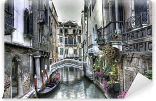 Carta da Parati in Vinile Gondel, palazzi und Bruecke, Venedig, Italien