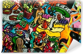 Carta da Parati in Vinile Graffiti art urbain