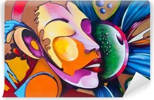 Carta da Parati in Vinile Graffiti faccia