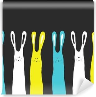 Carta da Parati in Vinile Grandi colori di conigli sfondo, illustrazione vettoriale