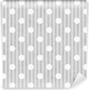 Carta Da Parati Giallo E Bianco A Pois E Strisce Di Sfondo Tessuto