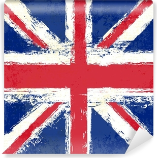 Carta da Parati in Vinile Grunge Union Jack