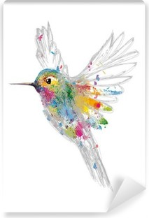 Carta da Parati in Vinile Hummingbird
