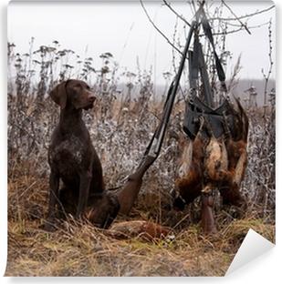 Carta da Parati in Vinile Hunting dog