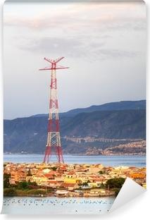 """Carta da Parati in Vinile Il """"Pilone"""" di Torre Faro"""