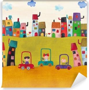 Carta da Parati in Vinile Illustrazione per bambini