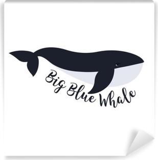 Carta da Parati in Vinile Illustrazione vettoriale di balena. simbolo di progettazione