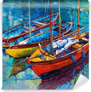 Carta da Parati in Vinile Imbarcazioni