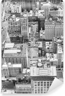 Carta da Parati in Vinile Immagine in bianco e nero di Manhattan, New York, USA.