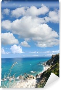 Carta da Parati in Vinile Italia con la costa azzurra in Calabria