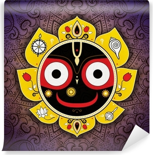 Carta da Parati in Vinile Jagannath. Dio indiano dell'Universo. Signore Jagannatha.