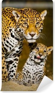 Carta da Parati in Vinile Jaguar Cubs
