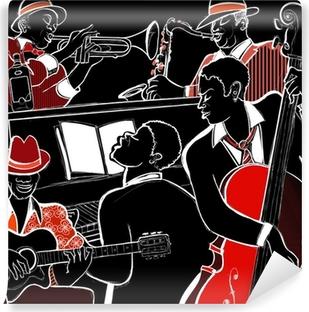 Carta da Parati in Vinile Jazz Band