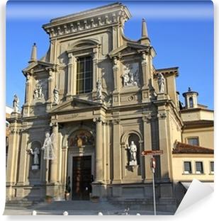 Carta da Parati in Vinile La chiesa di San Bartolomeo a Bergamo, Italia